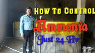 How to control Ammonia in Biofloc within just 24 hr , Abc society Chhattisgarh