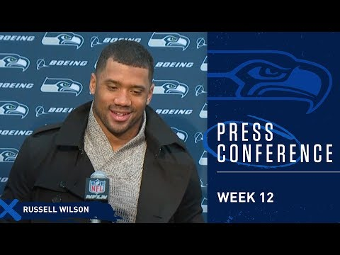 Seahawks Quarterback Russell Wilson Postgame Press Conference at Panthers