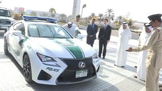 Lexus RC F To Supercar In Dubai Police Fleet