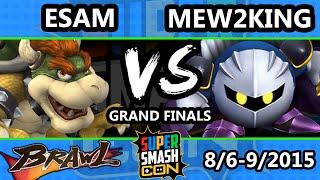 Super Smash Con - ESAM (Pikachu, Samus, Bowser) Vs. Mew2King (Meta Knight) - Grand Finals - SSBB