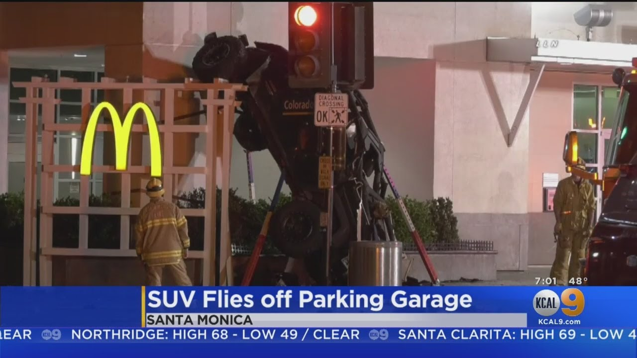 Car (Literally) Flies Off 6-Story Parking Garage In Santa Monica, Lands Across The Street