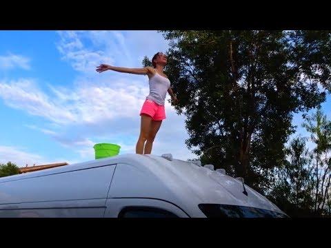 Dodge Ram Promaster >> Van Life. Van Wife. On the roof of the high top Ram ...