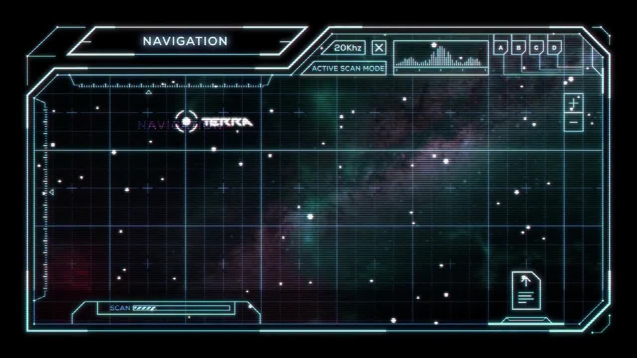 Star Chart with Sci Fi User Interface Motion Graphics   YouTube