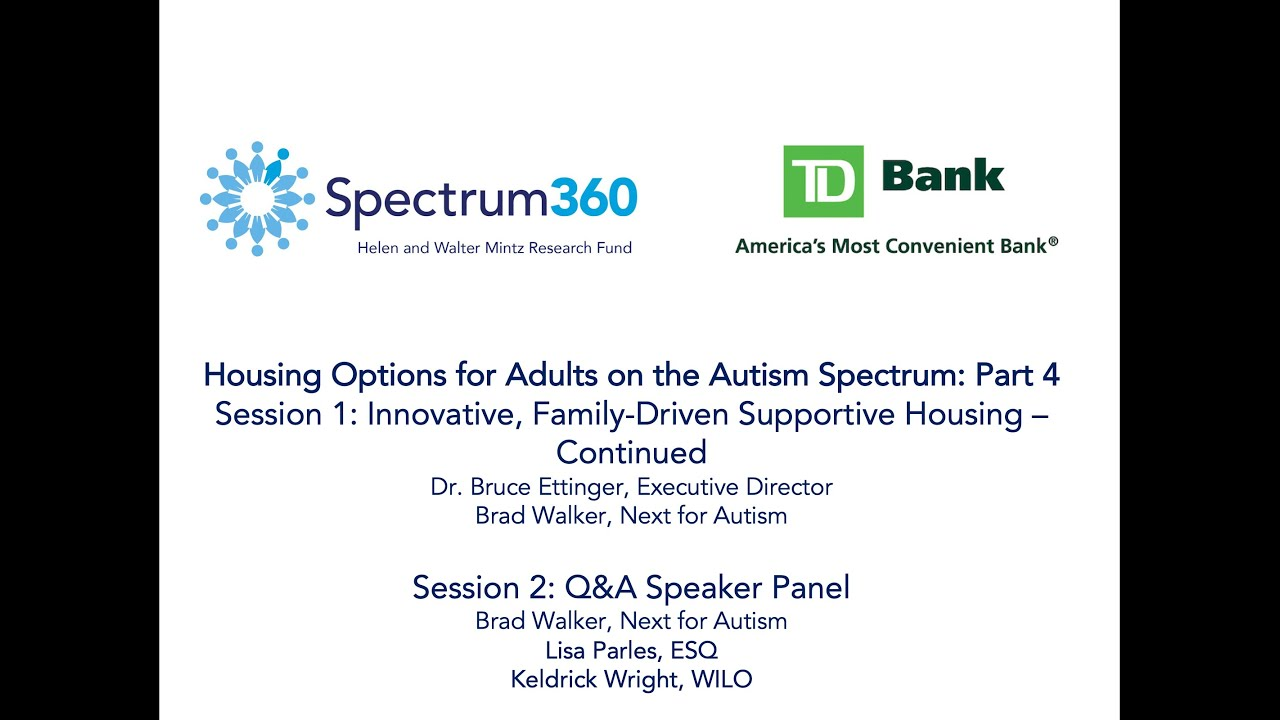 WEBINAR: Innovative, Family-Driven Supportive Housing - Continued