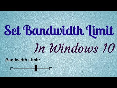 How To Set Bandwidth Limit To Download Updates In Windows 10
