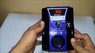Tronica Enjoy MP3/FM/USB/BLUETOOTH/AUX  WITH EMERGENCY LIGHT Unboxing