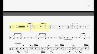 DAVE MATTHEWS BAND - Rapunzel Drum Sheet Notation chart