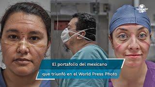 Iván Macías obtuvo el segundo lugar en la categoría Retrato Individual del World Press Photo 2021. En su trabajo se adentró a las batallas, lamentos y sentimientos del personal nocturno y pacientes con covid-19 en un hospital de urgencias de la CDMX