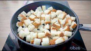 ВКУСНЯШКА из Обычного ХЛЕБА Карамельный ПОПКОРН из Хлеба на сковороде
