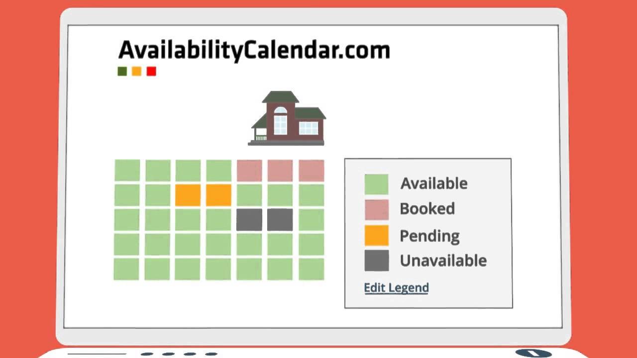 Create an Availability Calendar | AvailabilityCalendar com