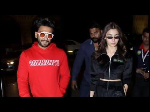 Ranveer Singh & Alia Bhatt Leave For Germany   Berlin Film Festival