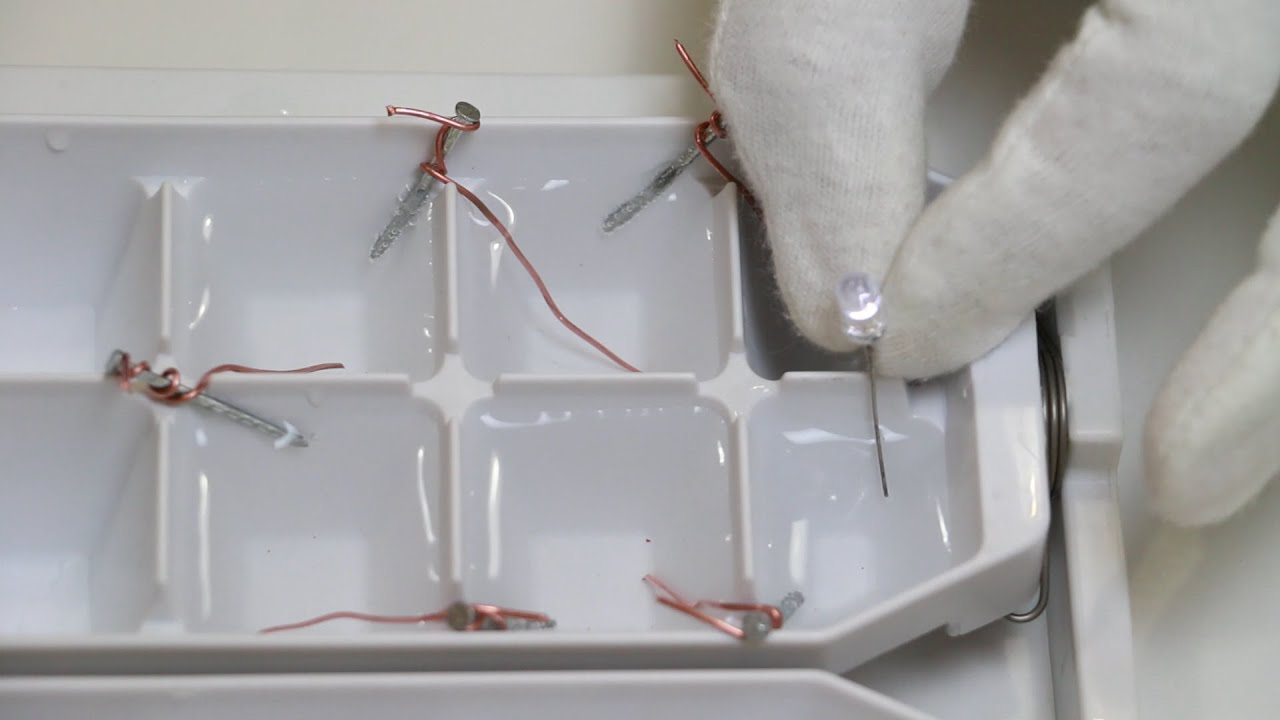 Ice Tray Battery Steam Experiments