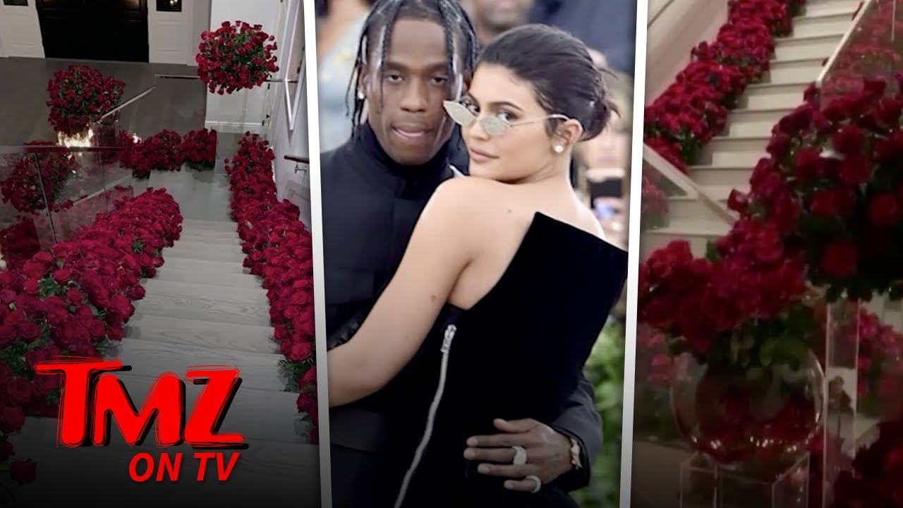 Kylie Jenner Comes Home to Find Her House Filled with Red Roses | TMZ TV