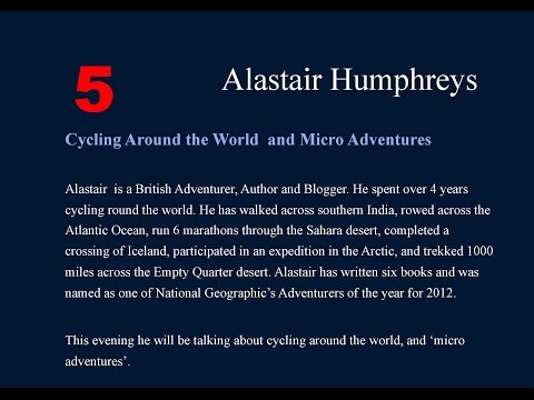 Alastair Humphreys - Royal Geographical Society, Endeavours 2