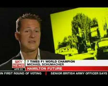 Michael Schumacher on Lewis Hamilton