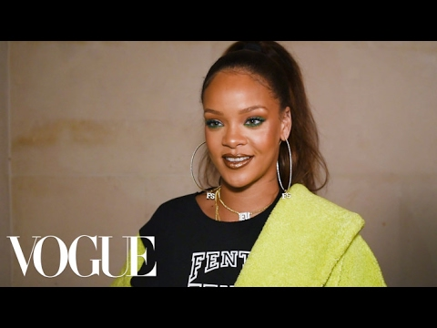 Rihanna's Fenty x Puma Takes the Fashion Crowd Back to School | Paris Fashion Week Fall 2017