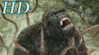 Конг: Остров черепа (5/10). Конг против гигантского осьминога. 2017 | HD | Фильмарезка.