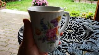 Чашка кофе со мной на терассе.