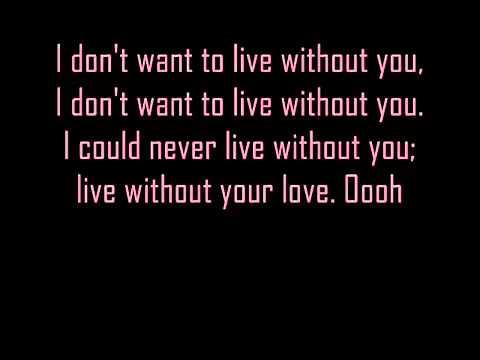 Foreigner - I Don't Want to Live Without You - Lyrics - 1987 - YouTube