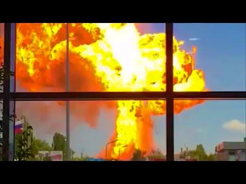 Взрыв на газовой заправке АЗС Волгоград