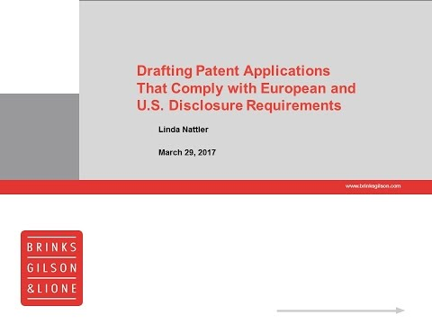 Brinks Webinar | Understanding Patent Applications and Methods for Best Approaches...