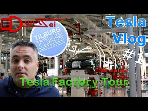 Tesla Tilburg Factory Tour - Werksbesichtigung Montage Model S/X, Vlog, Roadtrip & Probefahrt