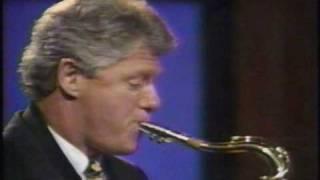 American President - Bill Clinton Play Saxophone  - 1992