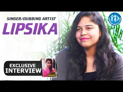 Singer/Dubbing Artist Lipsika Exclusive Interview || Talking Movies With iDream #75