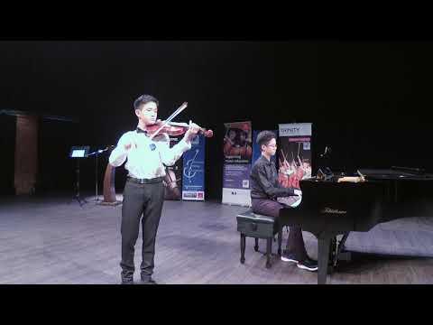 Bryan Law Ee Jiun - Second Prize, Age 14 and Below, Kreisler Praeludium and Allegro