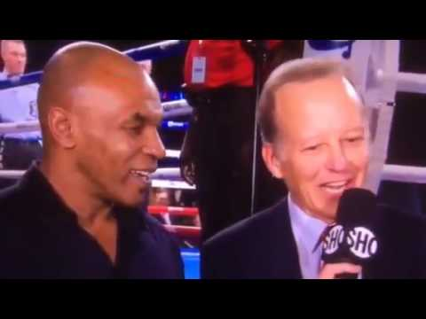 Mike Tyson interview during Deontay wilder fight,