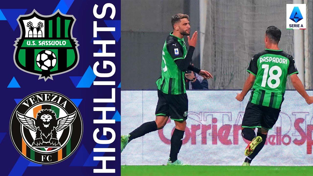 Download Sassuolo 3-1 Venezia   A home win for Sassuolo   Serie A 2021/22