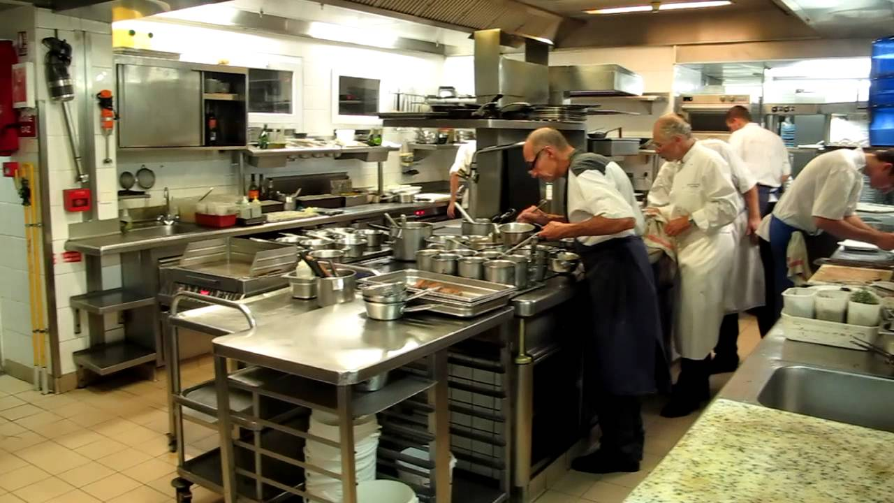 Busy Restaurant Kitchen Busy Kitchen At La Bastide Saint Antoine  Youtube