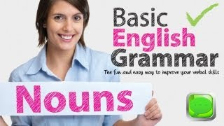 Basic English Grammar -- Noun | English speaking | Spoken English | ESL |Free English Lesson
