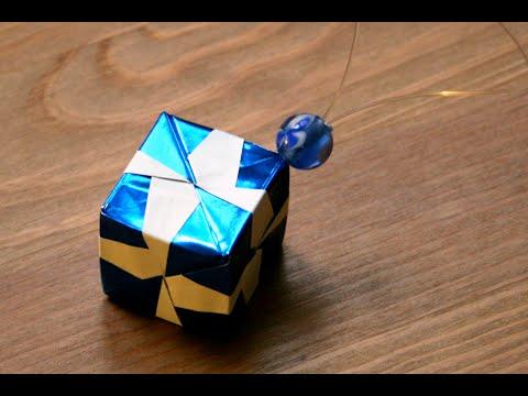 Origami d coration de no l le cube senbazuru youtube - Decoration de noel origami ...