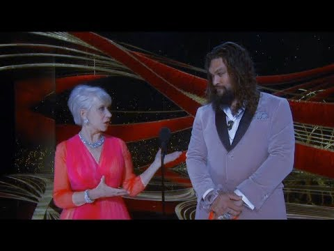 Kathy With a K - NOW see why Helen Mirren was beaming during Oscars with Jason Momoa!