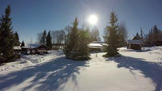 Смотреть видео зимний отдых на селигере