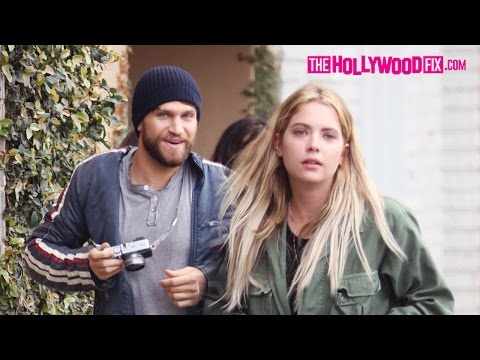 Ashley Benson & Keegan Allen From Pretty Little Liars Grab Coffee At Alfred's On A Motorcycle 3.3.16