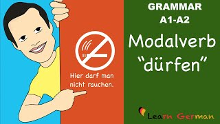 Learn German | German Grammar | dürfen | Modal verbs | Modalverben | A1 thumbnail