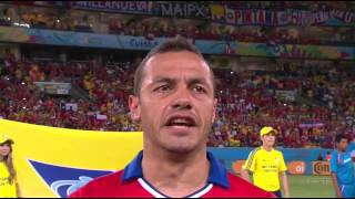 World Cup 2014 National Anthems Chile vs Australia