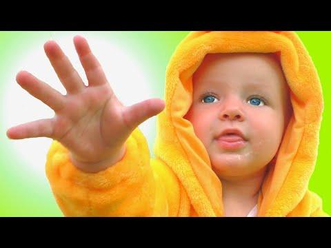 The Boo Boo Nursery Rhyme Song for Kids with Katya and Dima