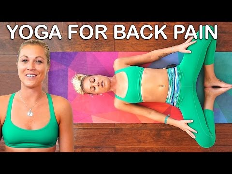 Gentle Yoga for Back Pain, 20 Minute Beginners Stretches