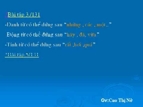 Ngu van 9:Tong ket ve ngu phap (tuan 30)_Gv:Cao Thi No