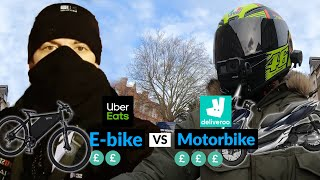 E-bike vs Motorbike Who Can Make More £££ London Eats vs Mr SharK