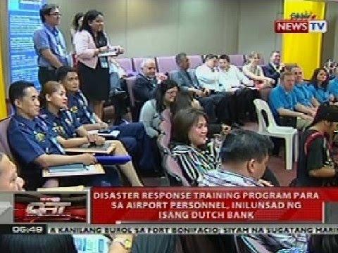 QRT: Disaster response training program sa mga airport personnel, inilunsad nf isang dutch bank