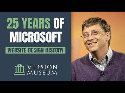 25 Years Of Microsoft.com Website Design History (1994-2019)