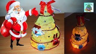 КАК СДЕЛАТЬ НОВОГОДНЮЮ ЕЛКУ ИЗ ЦВЕТОЧНОЙ СЕТКИ СВОИМИ РУКАМИ. Christmas tree. (DIY, Handmade).