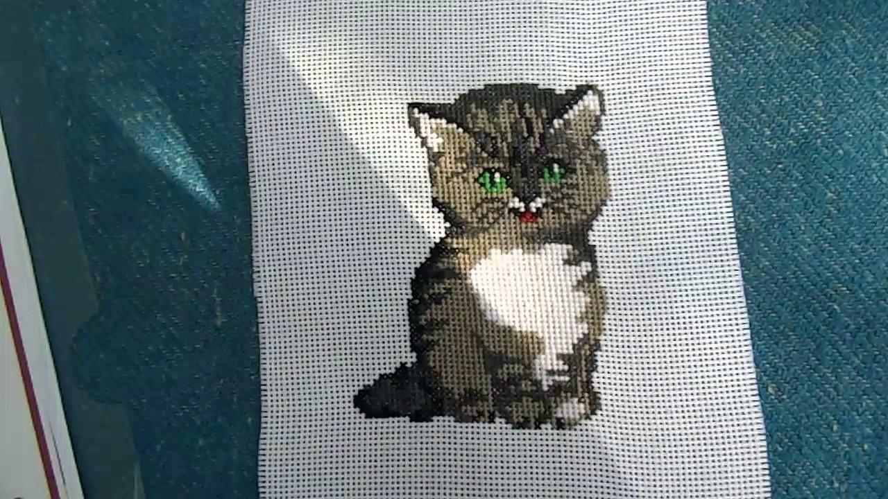 Вышивка крестом: Котик