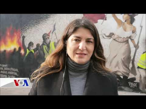Sarı Yelekliler Paris Duvarlarında
