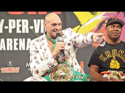 Tyson Fury - THE FULL POST FIGHT PRESS CONFERENCE Vs. Deontay Wilder 2