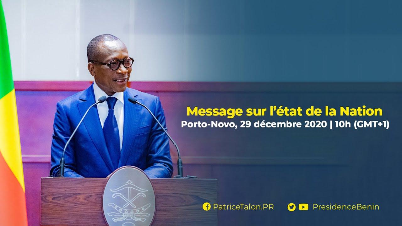 Discours sur l'état de la Nation du Président Patrice TALON